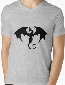 black dragon Mens V-Neck T-Shirt