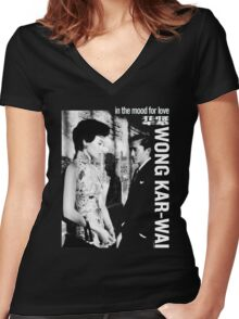 IN THE MOOD FOR LOVE - WONG KAR WAI Women's Fitted V-Neck T-Shirt