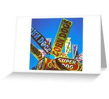 Corndogs - Medium Format Film Photograph Greeting Card