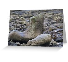 Giants Shoe at the Giants Causeway Greeting Card