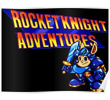 Rocket Knight Adventures (Sega Genesis Title Screen) Poster