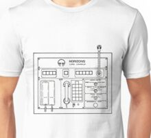 Horizons Load Console Control Panel Diagram from Epcot Unisex T-Shirt
