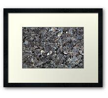 Surface of a Labradorite Rock Framed Print