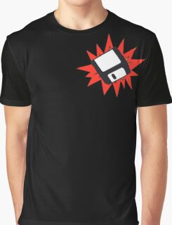 Dynamic Retro Floppy Disc old skool tech Graphic T-Shirt