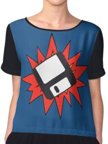 Dynamic Retro Floppy Disc old skool tech Chiffon Top