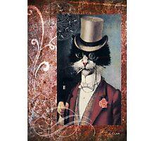 Victorian Cat Top Hat Gentleman Photographic Print