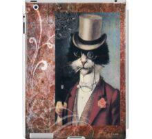 Victorian Cat Top Hat Gentleman iPad Case/Skin