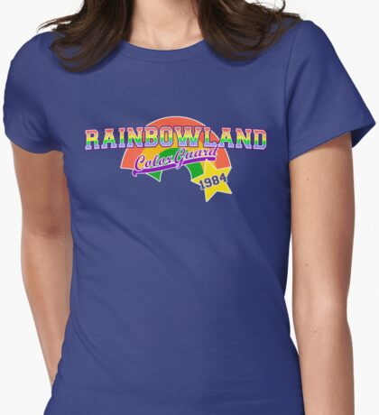 Rainbowland Color Guard Womens Fitted T-Shirt