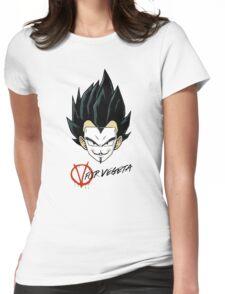 V for Vegeta Womens Fitted T-Shirt