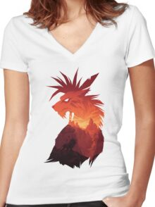 The Canyon's Guardian Women's Fitted V-Neck T-Shirt