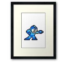 8-bit Megaman Framed Print
