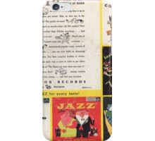 RCA Jazz  ep Back Cover Early 1950's iPhone Case/Skin