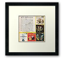 RCA Jazz  ep Back Cover Early 1950's Framed Print