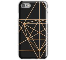 Gold Wire Geometry iPhone Case/Skin