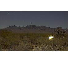 Starry Night in the Desert Photographic Print
