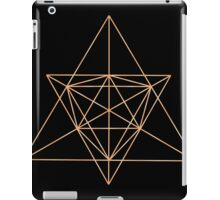 Gold Wire Geometry iPad Case/Skin