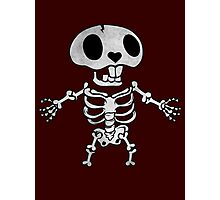 Happy Skeleton Photographic Print