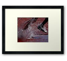 """Running In The Rain - Exercise Therapy and a shower ... all at the same time"" Framed Print"