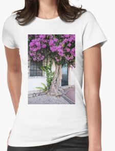 Lisbon Rhododendron Womens Fitted T-Shirt