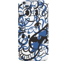 Doodle of the day II – blue version iPhone Case/Skin