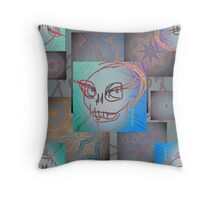 Smiling Skull Quadrille 1 Throw Pillow