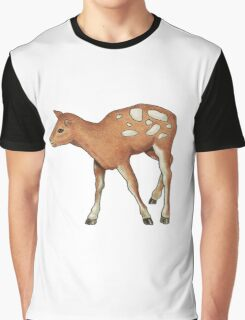 Little Fawn, Original Color Pencil Drawing, Wildlife Art Graphic T-Shirt
