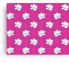 Takasaki Magnolia - Pink & Blue Canvas Print