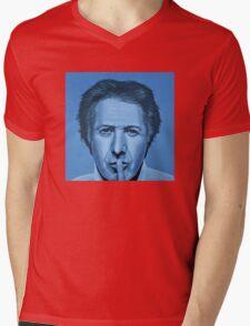 Dustin Hoffman Painting Mens V-Neck T-Shirt
