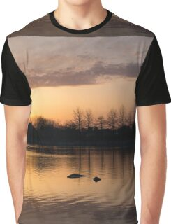 Gloaming - Subtle Pink, Lavender and Orange at the Lake Graphic T-Shirt