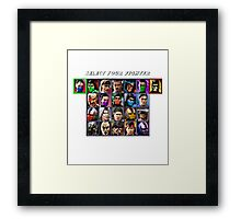 Ultimate Mortal Kombat 3 Character Select Framed Print