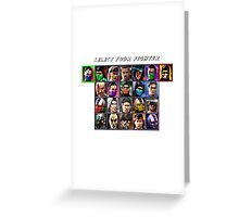 Ultimate Mortal Kombat 3 Character Select Greeting Card