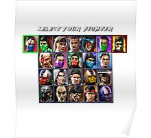Ultimate Mortal Kombat 3 Character Select Poster