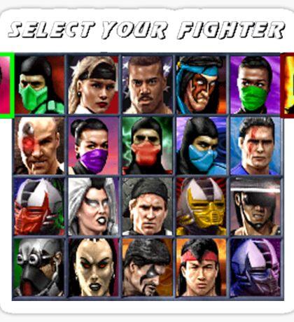 Ultimate Mortal Kombat 3 Character Select Sticker