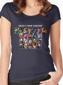 Ultimate Mortal Kombat 3 Character Select Women's Fitted Scoop T-Shirt