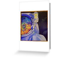 Abstract Spaceman  Greeting Card