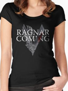 VIKINGS - Ragnar is coming Women's Fitted Scoop T-Shirt