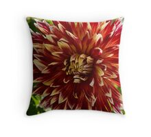 Blooming Dahlia Bud Throw Pillow