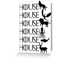 Game of Thrones - House Greeting Card