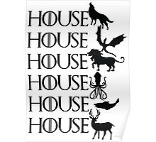 Game of Thrones - House Poster