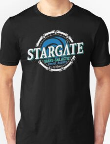 Stargate - Trans-galactic travel agency - blue T-Shirt