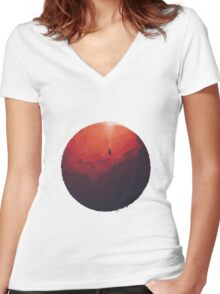 Astral Projection Women's Fitted V-Neck T-Shirt