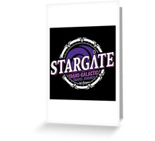 Stargate - Trans-galactic travel agency - purple Greeting Card