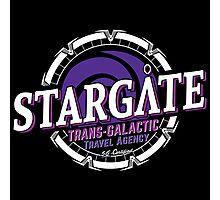 Stargate - Trans-galactic travel agency - purple Photographic Print