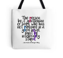 Jane Austen ― Northanger Abbey ― White Out Tote Bag