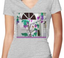 Doorway Of Life Women's Fitted V-Neck T-Shirt