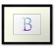 Beta Blue Watercolor Letter Framed Print