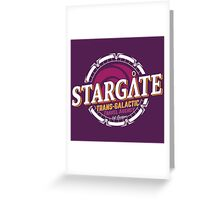 Stargate - Trans-galactic travel agency - yellow Greeting Card