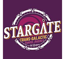 Stargate - Trans-galactic travel agency - yellow Photographic Print