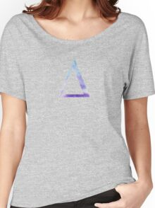 Delta Blue Watercolor Letter Women's Relaxed Fit T-Shirt