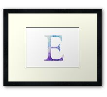 Epsilon Blue Watercolor Letter Framed Print